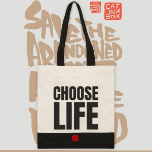 Choose life Canvasbag